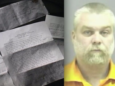 'Making a Murderer's' Steven Avery sends letter:…