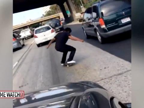 Skateboarders turning freeways into skate parks?