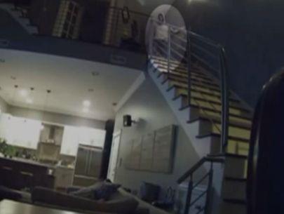 Creepy video captures home intruder watching couple sleep