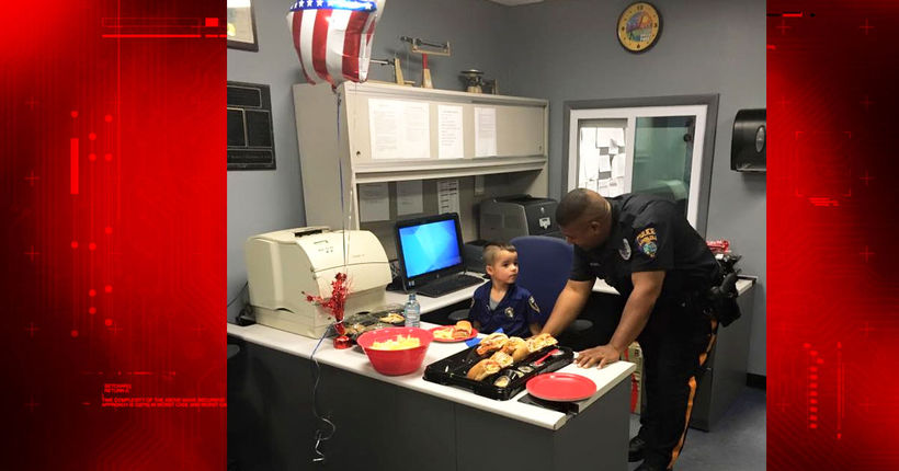 Boy, 5, saves allowance for months to buy police dept. lunch